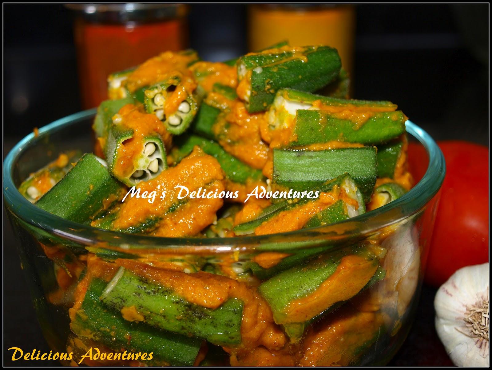 ... Adventures: Stuffed Bhindi / Ladyfingers / Okra (Bharli Bhendi