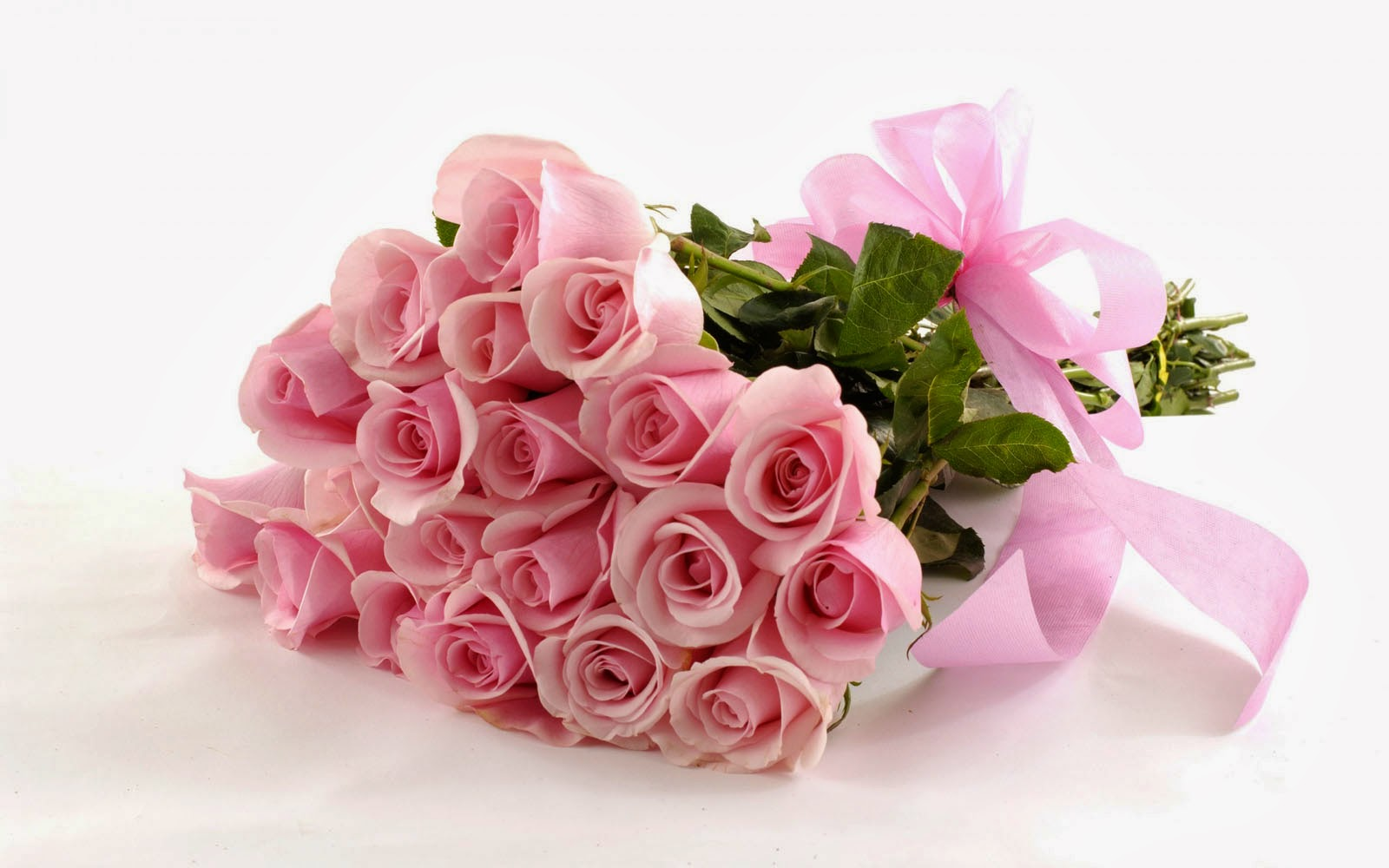 pure pink rose bouquet - photo #2