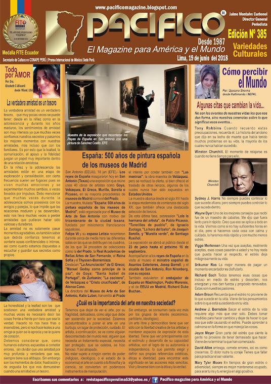 Revista Pacifico Nº 385 Variedades Culturales