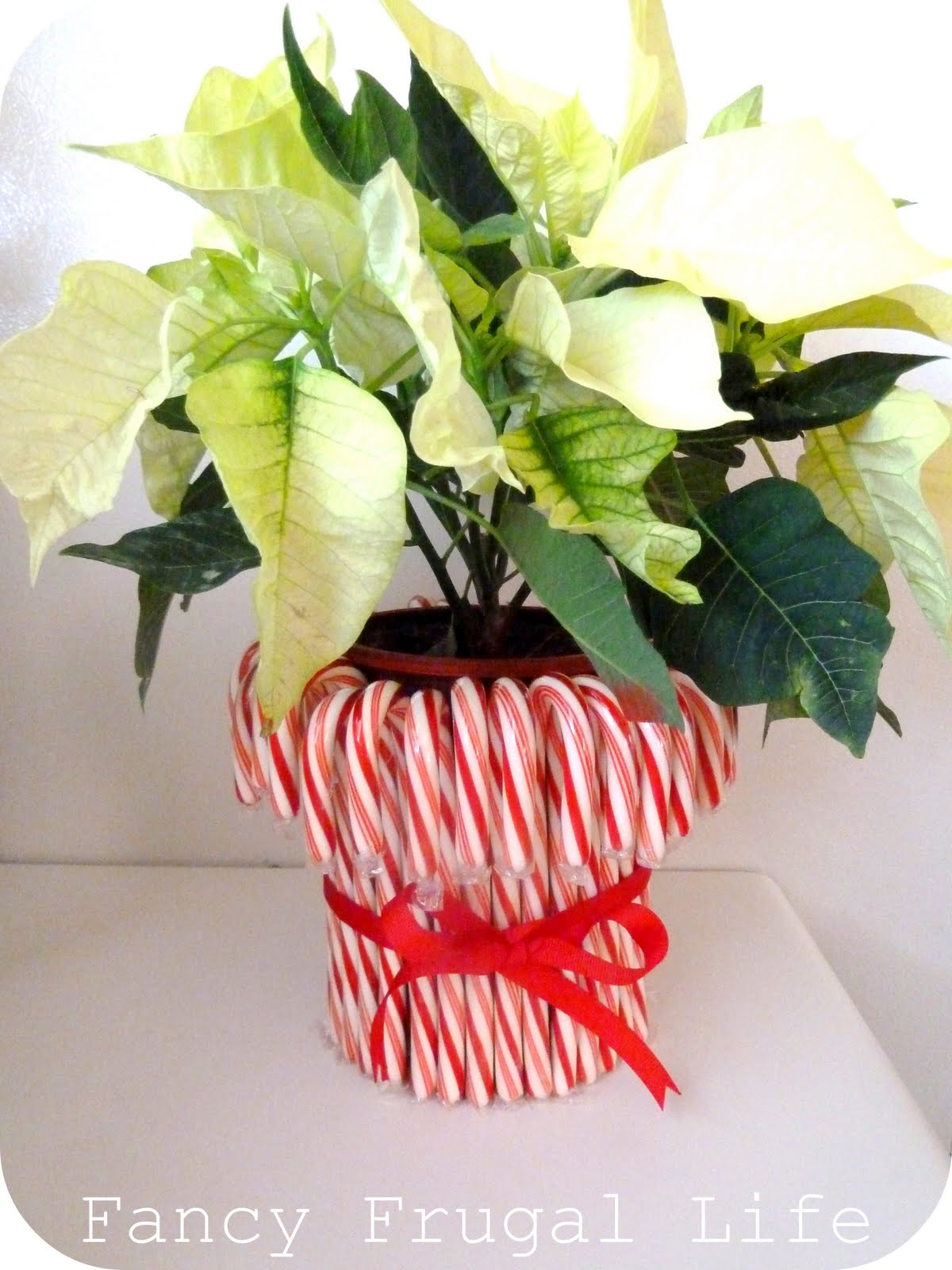 Candy cane centerpiece teacher s gift for Candy cane holder candle centerpiece