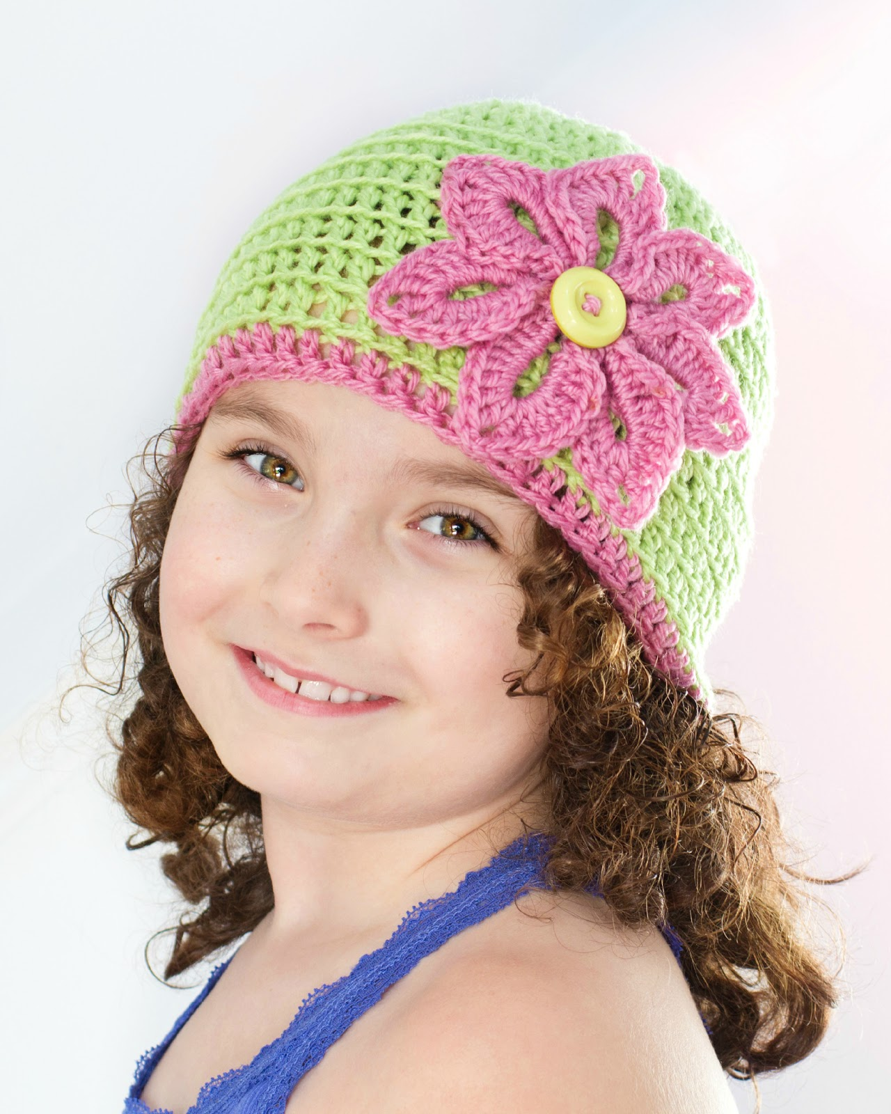 Crochet Beanie Pattern With Flower : Hopeful Honey Craft, Crochet, Create: Basic Spring ...