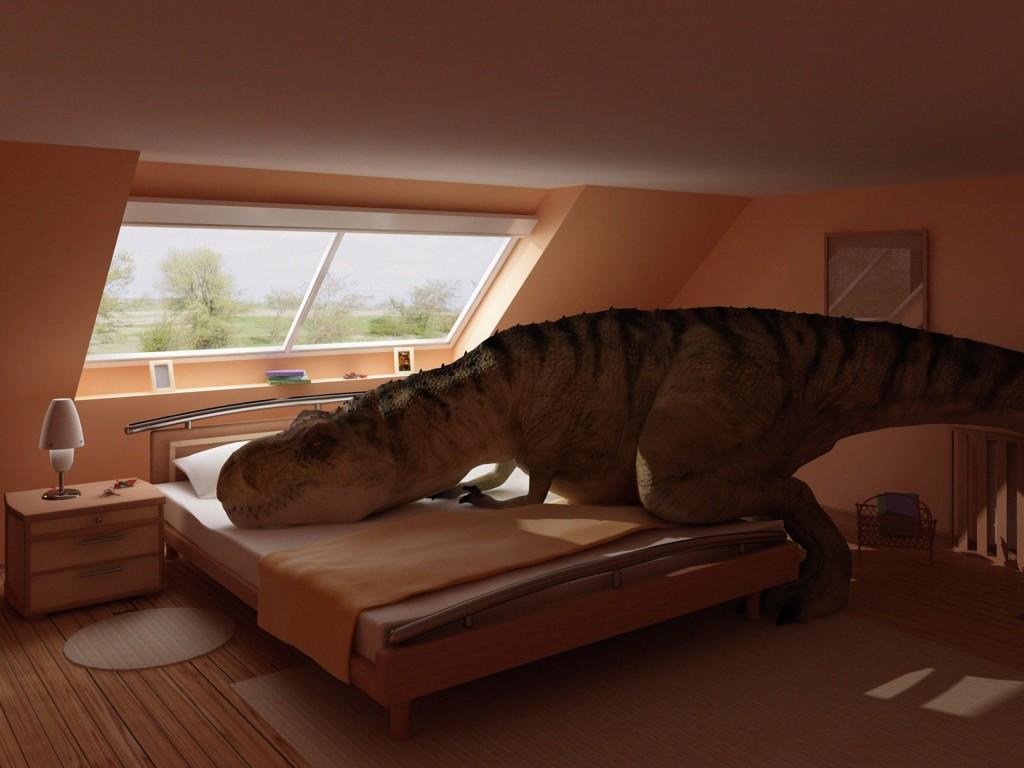 Dinosaures et Volcans Chambre d'enfant Dinosaure