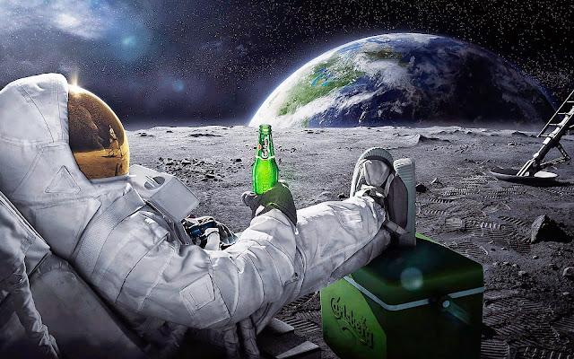 Una Carlsberg en la luna
