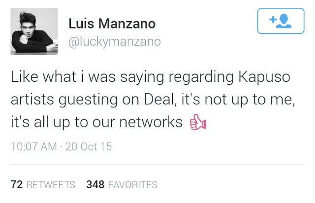 Luis Manzanno thinks that guesting GMA Artists on Deal or No Deal is a great idea!