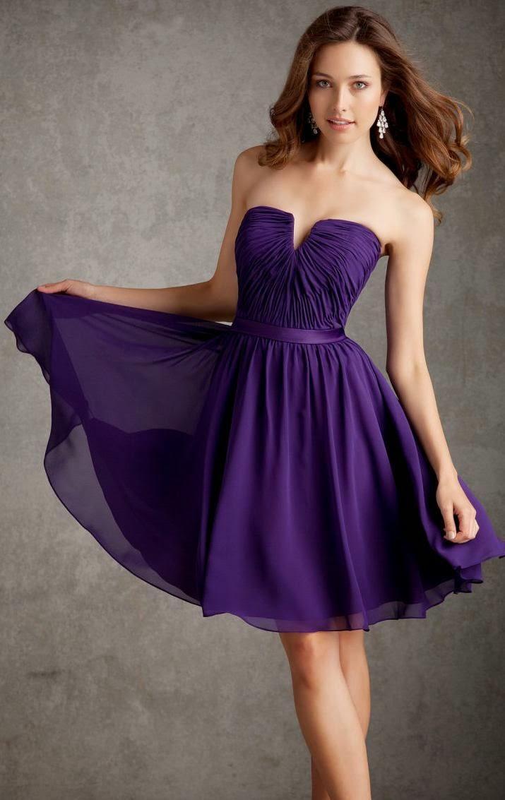 Hermosa Trajes De Baile De Graduación Púrpura Colección - Ideas de ...