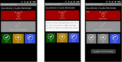 audio reminder for android application