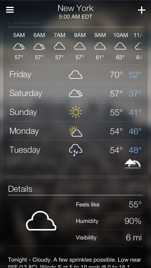 Brand new yahoo weather app released for iphone apps for Application iphone temperature interieur