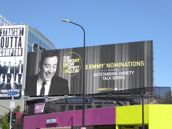 Tonight Show Jimmy Fallon Emmy 2015 nomination billboard