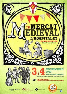 Cartel Mercado Medieval de Santa Eulàlia. l'Hospitalet