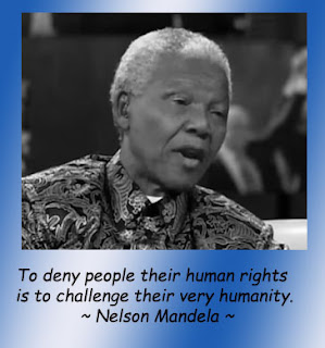 To deny people their human rights is to challenge their very humanity.