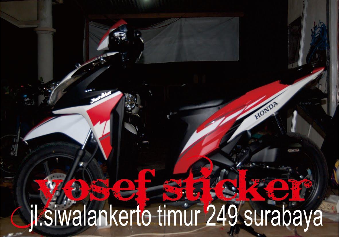 Kumpulan cutting sticker motor vario 150 surabaya
