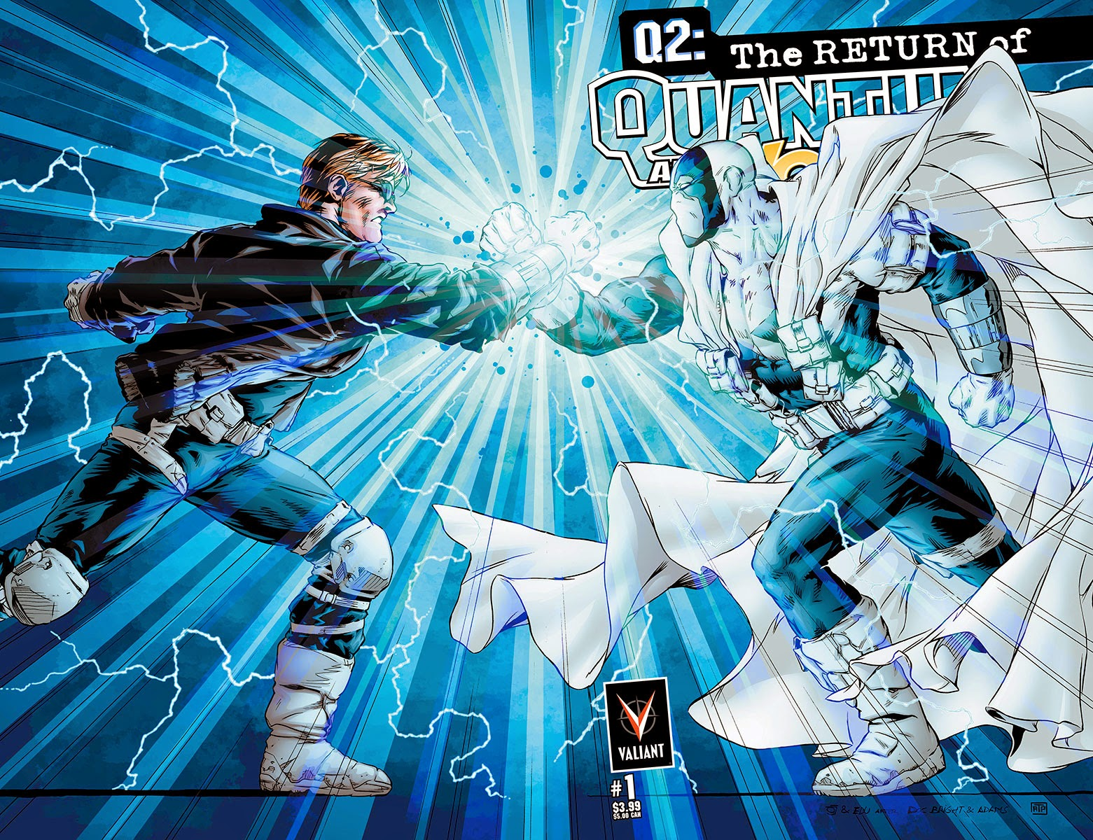 Valiant Preview Q2: THE RETURN OF QUANTUM AND WOODY #1 by Christopher Priest and M D Bright