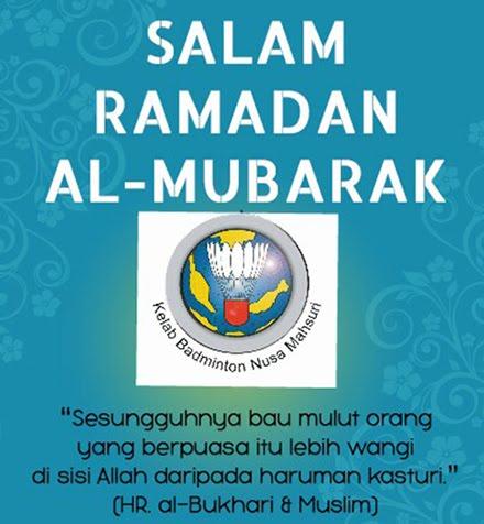 Selamat Menyambut Ramadan Al-Mubarak buat seluruh umat Islam