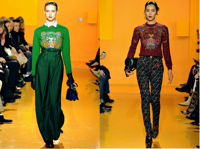 Graphic t-shirt, kenzo, fall winter 2012/13, runway, collection, trend, graphic