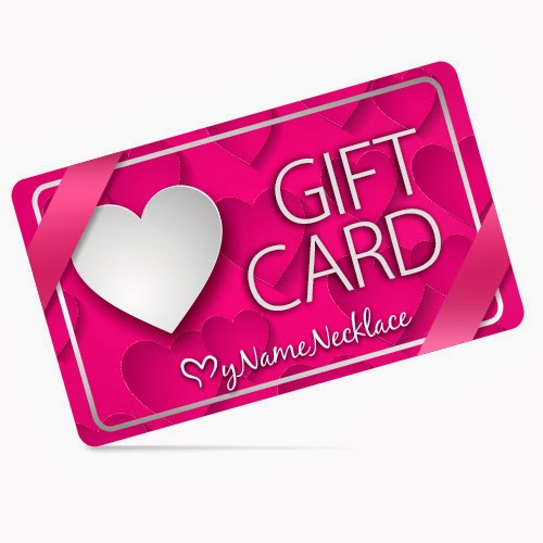 My Name Necklace Gift Card