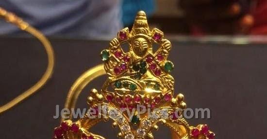 Gold Lakshmi Devi Baby Vanki Latest Jewellery Designs