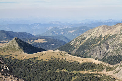 View from Burroughs Mountain, Looking North Toward Skyscraper Mountain and Fremont Lookout