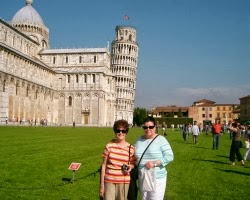 mom and diana, pisa, italy