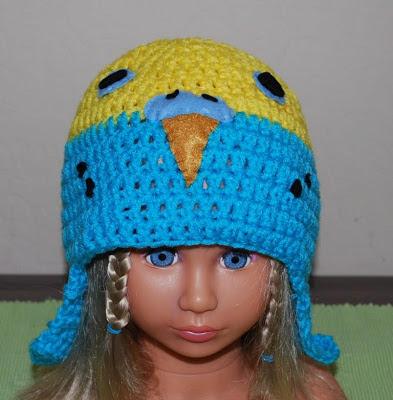 Crochet Parakeet hat