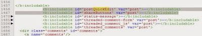 kode QuickEdit dan Share Buttom