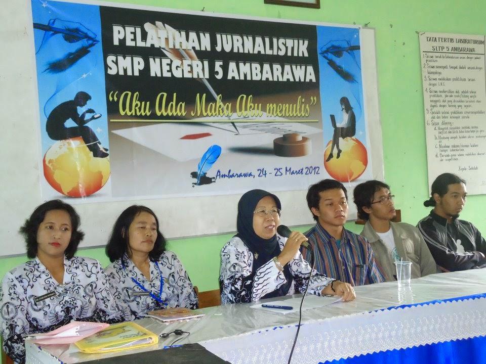 Pelatihan Jurnalistik SMP Negeri 5 Ambarawa