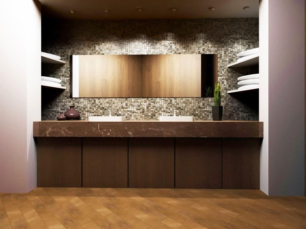 Aplicación en baño de interglass Murano de Interceramic