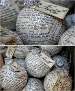récup et recyclage de papier journal pour faire des boules de noël