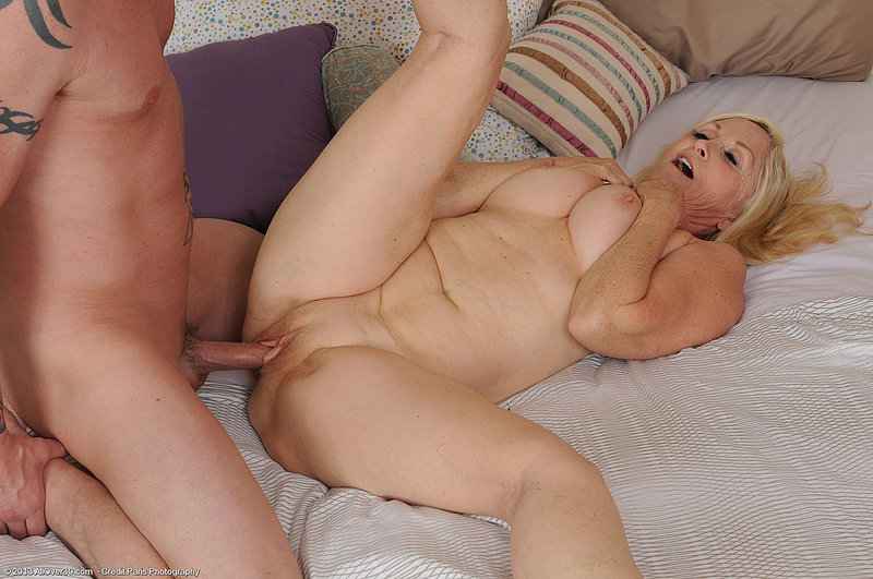 mom and son pose nude