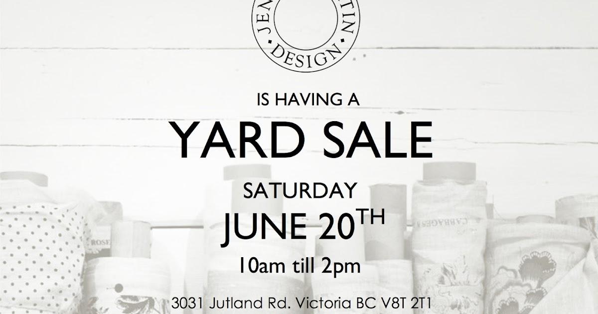 Jenny Martin Design Special Event First Ever Yard Garage
