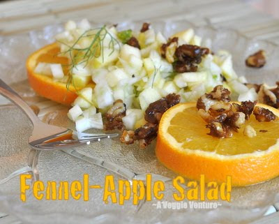 Fennel-Apple Salad with Orange-Zest Candied Black Walnuts