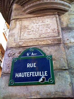 street signs, Paris, blue