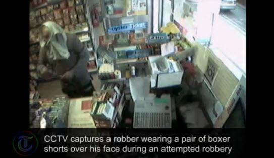 Ladrón es atrapado al tratar de utilizar un bóxer como mascara