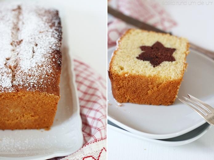 Kuchen mit stern in der mitte