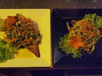 Banana flower salad & mango salad - Tigre de Papier cookery school