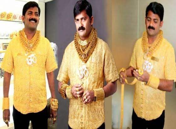 Laki-laki memakai emas - ilustrasi