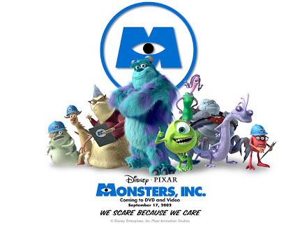 MONSTER INC = MON--STER =STAR = ESTRELLA = ANGEL CAIDO = DEMONIOS, EL LOGOTIPO ES EL OJO DE LUCIFER