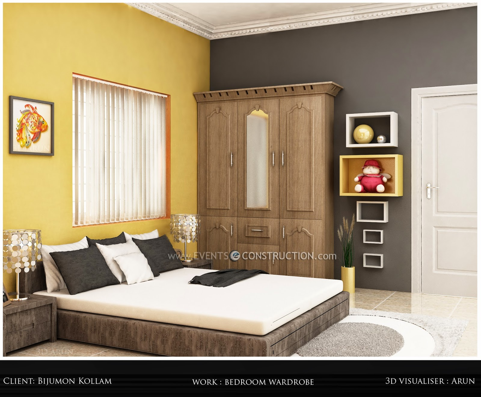 Evens construction pvt ltd kerala bedroom interior design for Bedroom designs in kerala