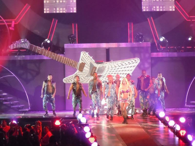 Britney Spears giant concert guitar