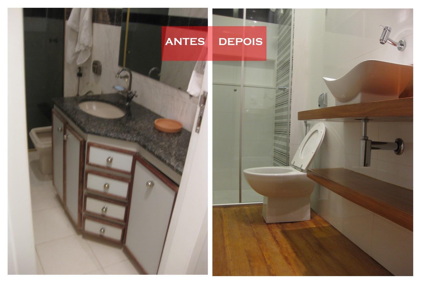 Reforma lá de casa: Antes e depois banheiro social #9E342D 1600x1073 Antes E Depois De Um Banheiro