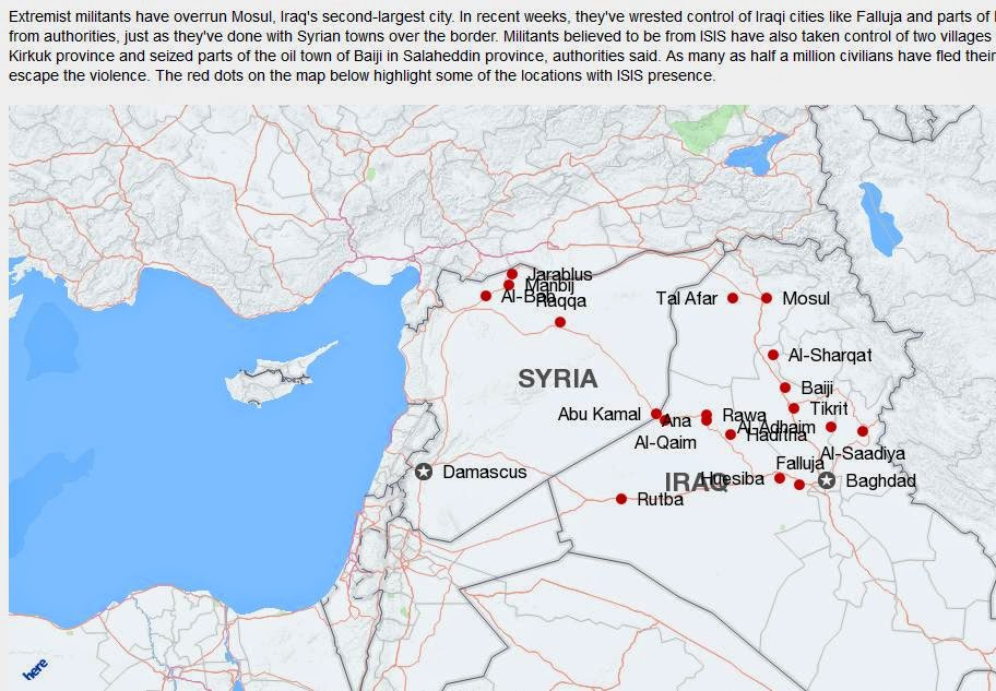 Adam Montana's Take on the Crisis in Iraq (7/6/2014) ISIS+map