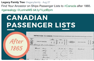 Search Alternates to Ships Passenger Lists to Canada Before 1865