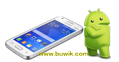 Smartphone Android Samsung Galaxy dengan Logo lucu android