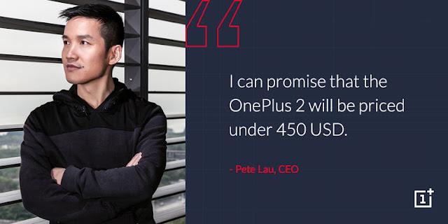 CEO Pete Lou konfirmasikan harga OnePlus 2 dibawah 6 jutaan