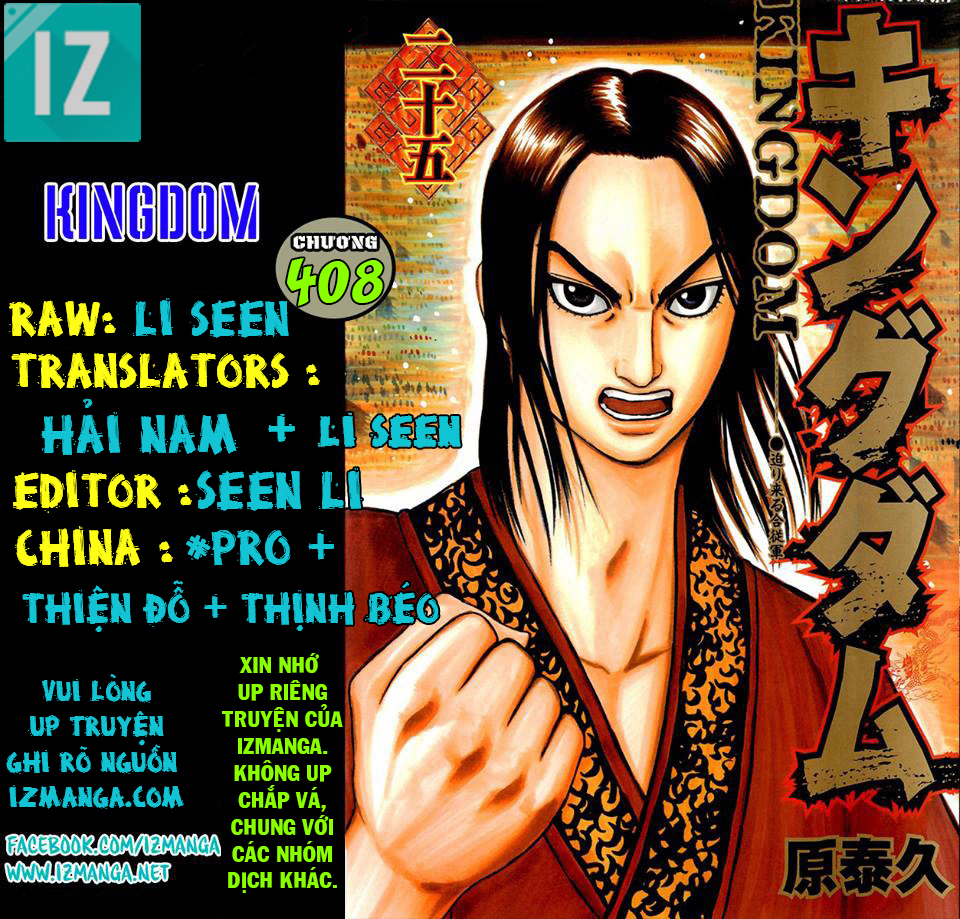 Kingdom - Vương Giả Thiên Hạ Chapter 408 page 1 - IZTruyenTranh.com