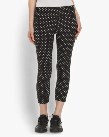 Style Athletics Black White Polka Dot Vogo Pants