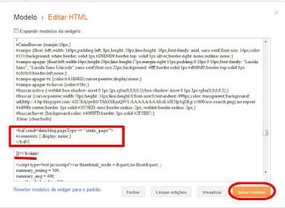 editar html - código de ocultar páginas estáticas