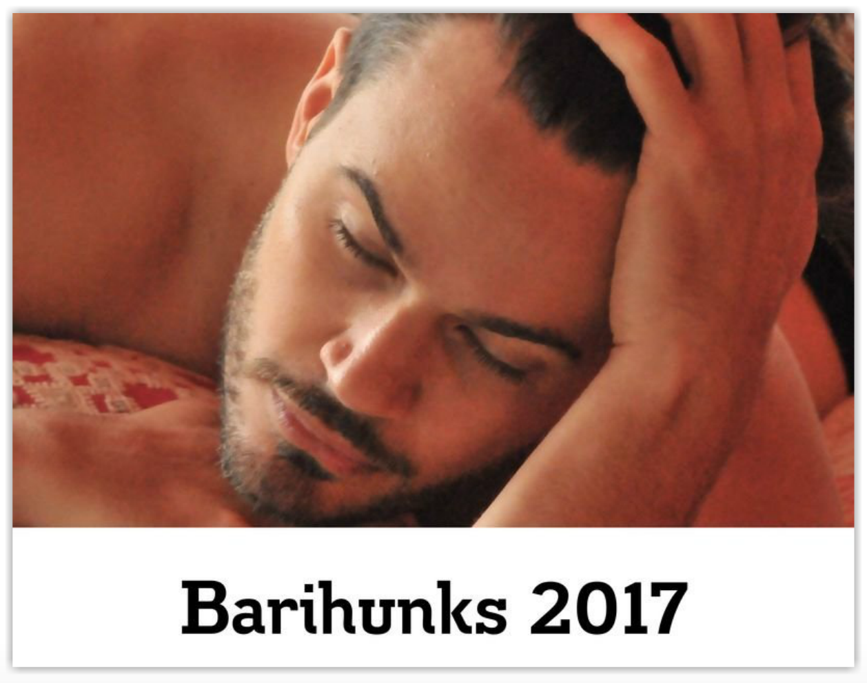 "10th Anniversary ""Barihunks in Bed"" calendar now on sale"