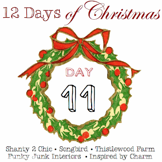 12 Days of Christmas Day 11, via Funky Junk Interiors