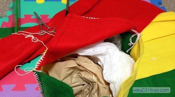 The rustling bag - Handmade toys for the newborn