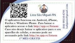 Aplicativo Lista São Miguel